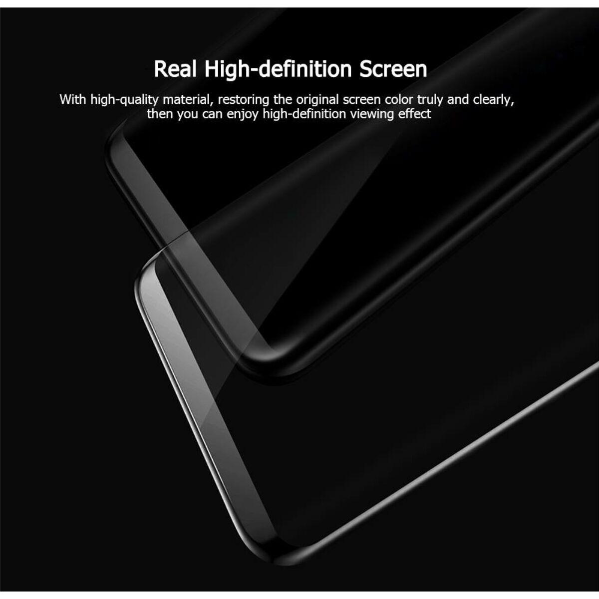 Baseus Samsung S8 Plus 0.3 mm, teljes felületre edzett üveg kijelzővédő fólia, fekete (SGSAS8P-3D01)