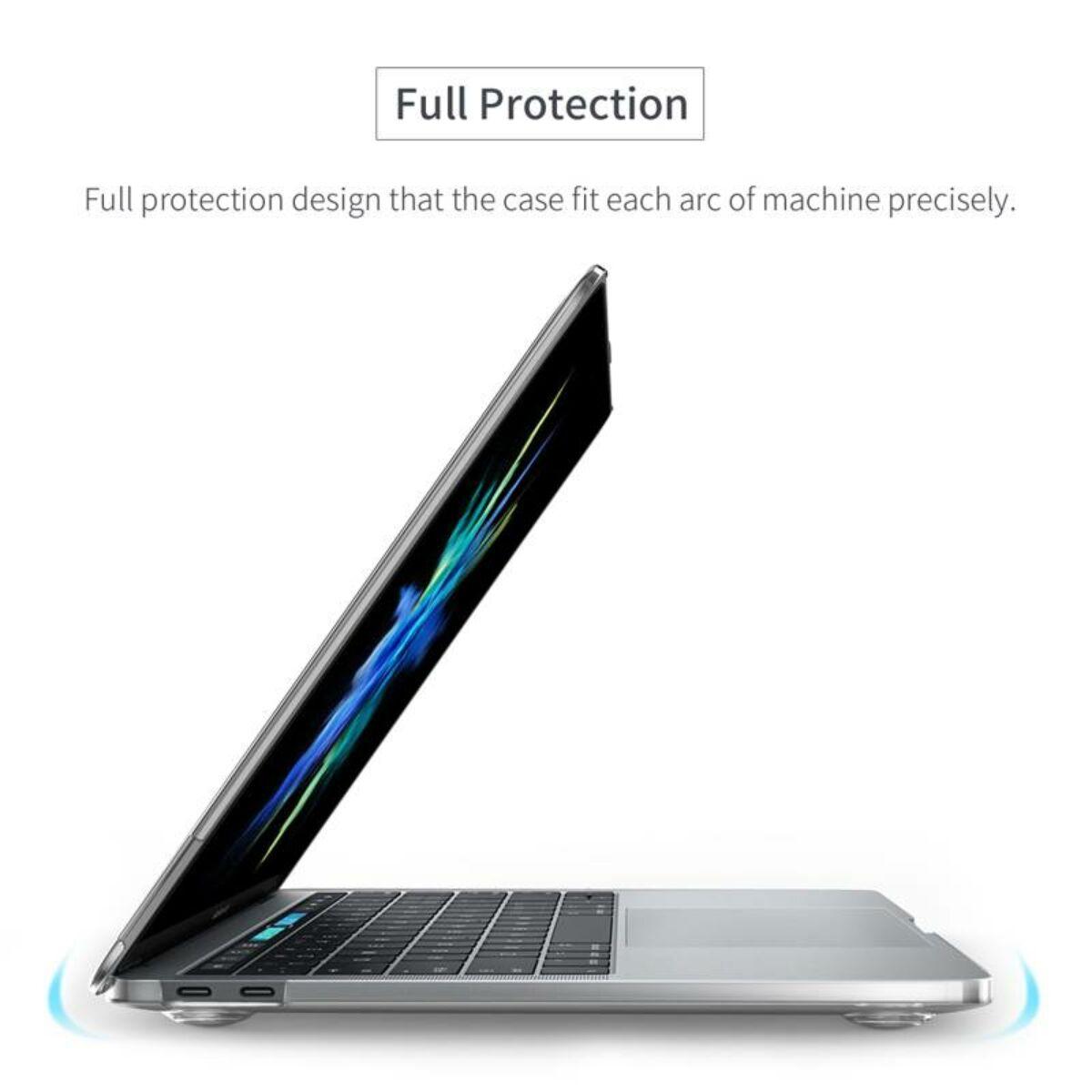 """Baseus MacBook 15"""" Pro Air alsó/felső védő tok, átlátszó (SPAPMCBK15-02)"""