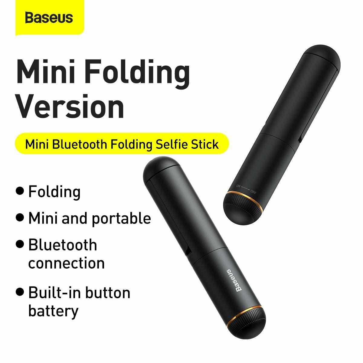 Baseus Video kiegészítő, Ultra Mini Bluetooth Folding Selfie bot, fekete (SUDYZP-G01)