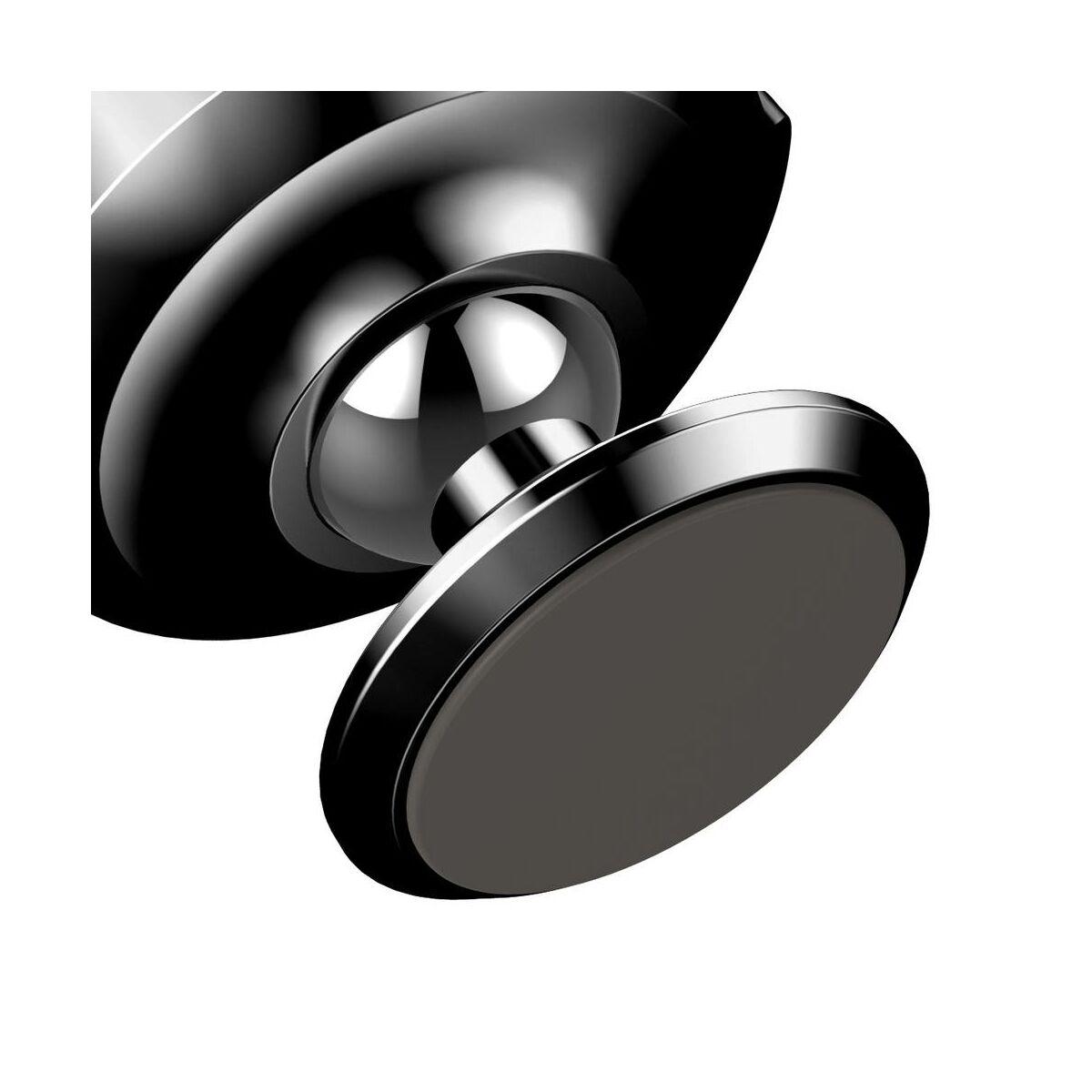 Baseus autós telefontartó, Small Ears series mágneses, műszerfalra, fekete (SUER-B01)