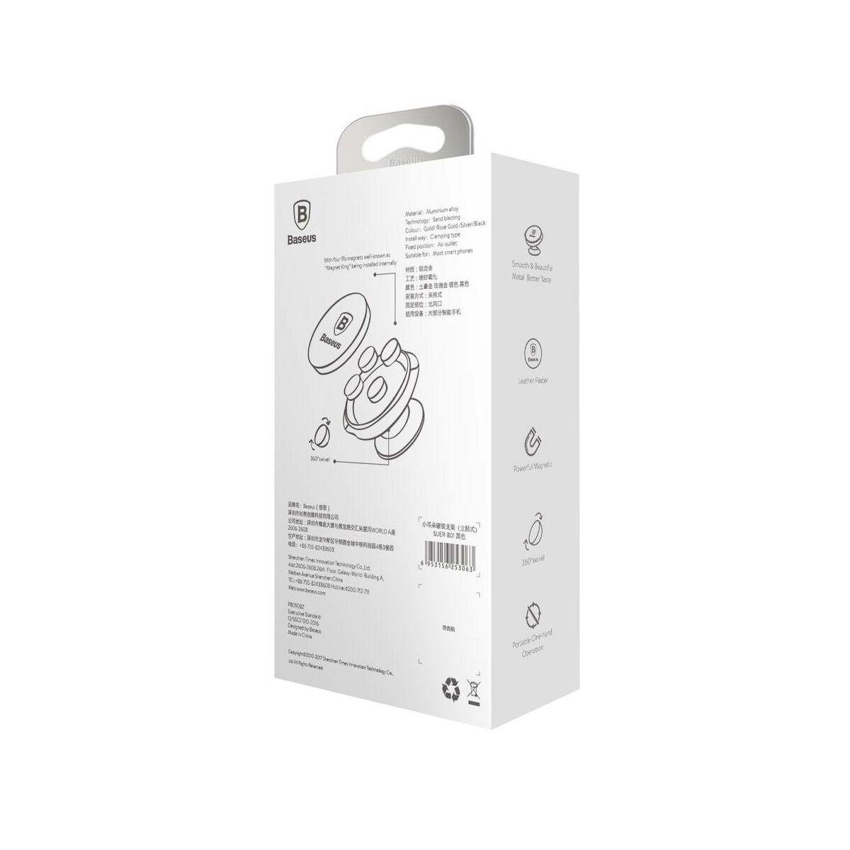 Baseus autós telefontartó, Small Ears series mágneses, műszerfalra, arany (SUER-B0V)