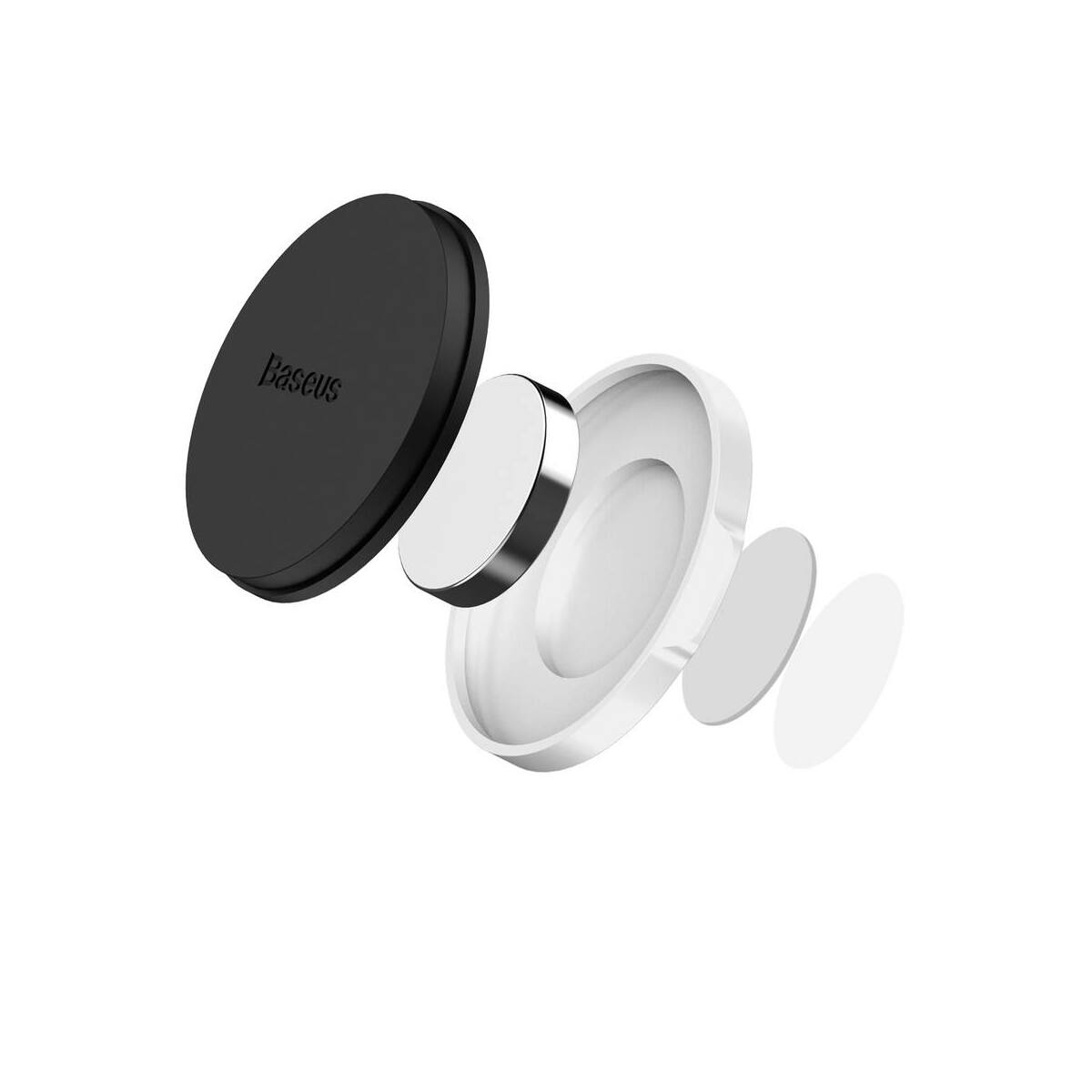 Baseus autós telefontartó, Small Ears series mágneses, sík felületre, ezüst (SUER-C0S)