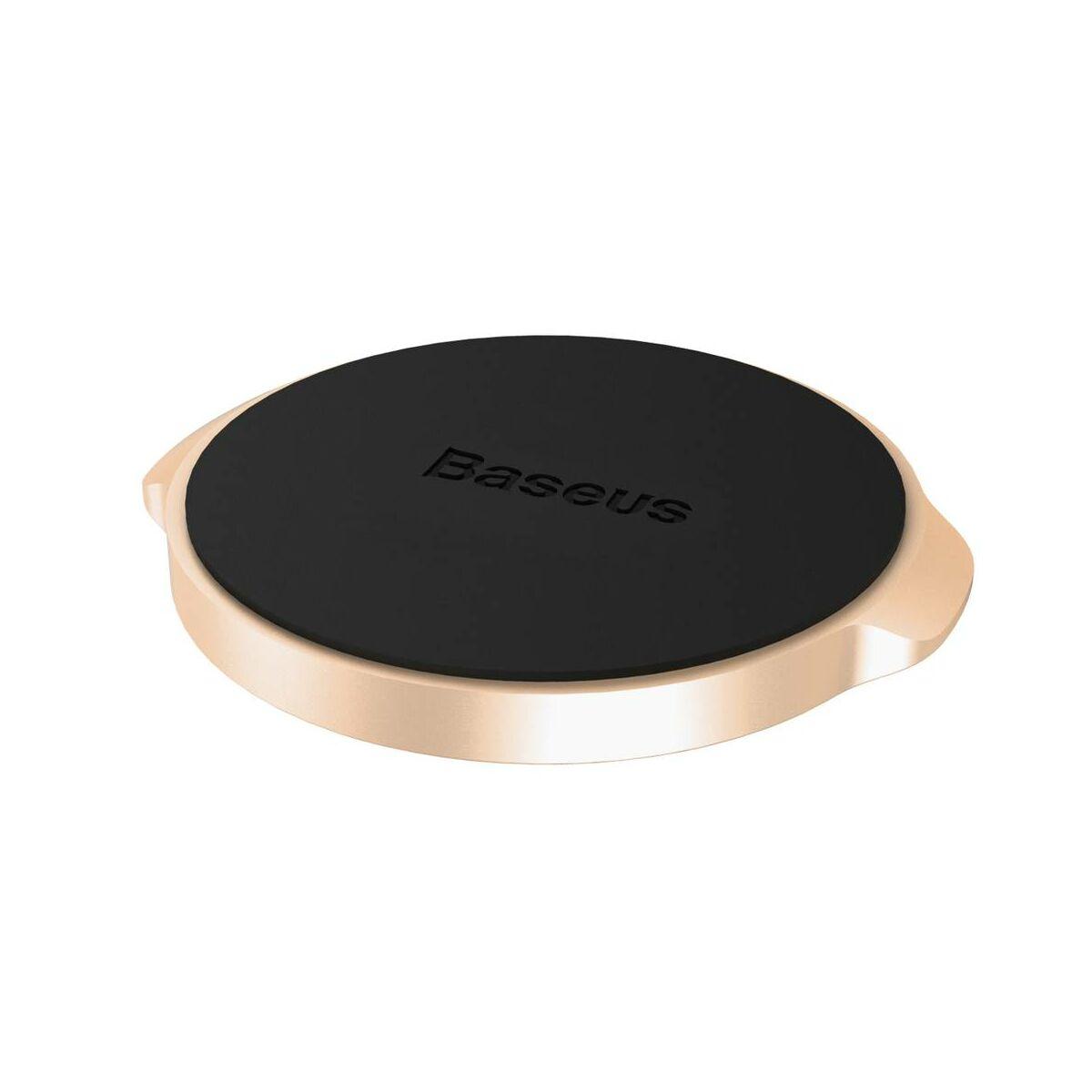 Baseus autós telefontartó, Small Ears series mágneses, sík felületre, arany (SUER-C0V)