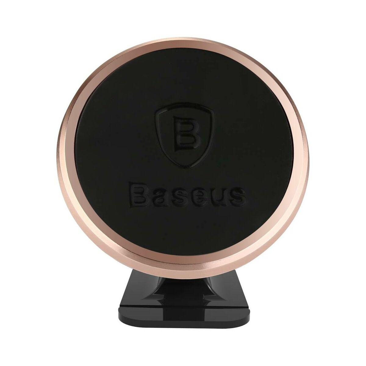Baseus autós telefontartó, 360 fokban forgatható, mágneses, rózsaarany (SUGENT-NT0R)