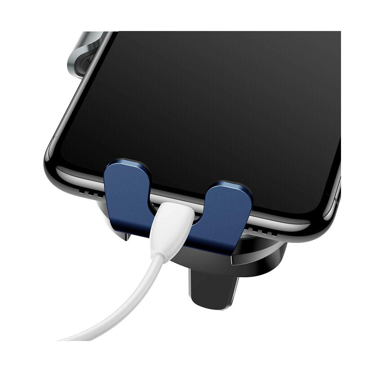 Baseus autós telefon tartó, Gravity szellőzőrácsra, automatikus nyitás-zárás, kék (SUGENT-ZN03)