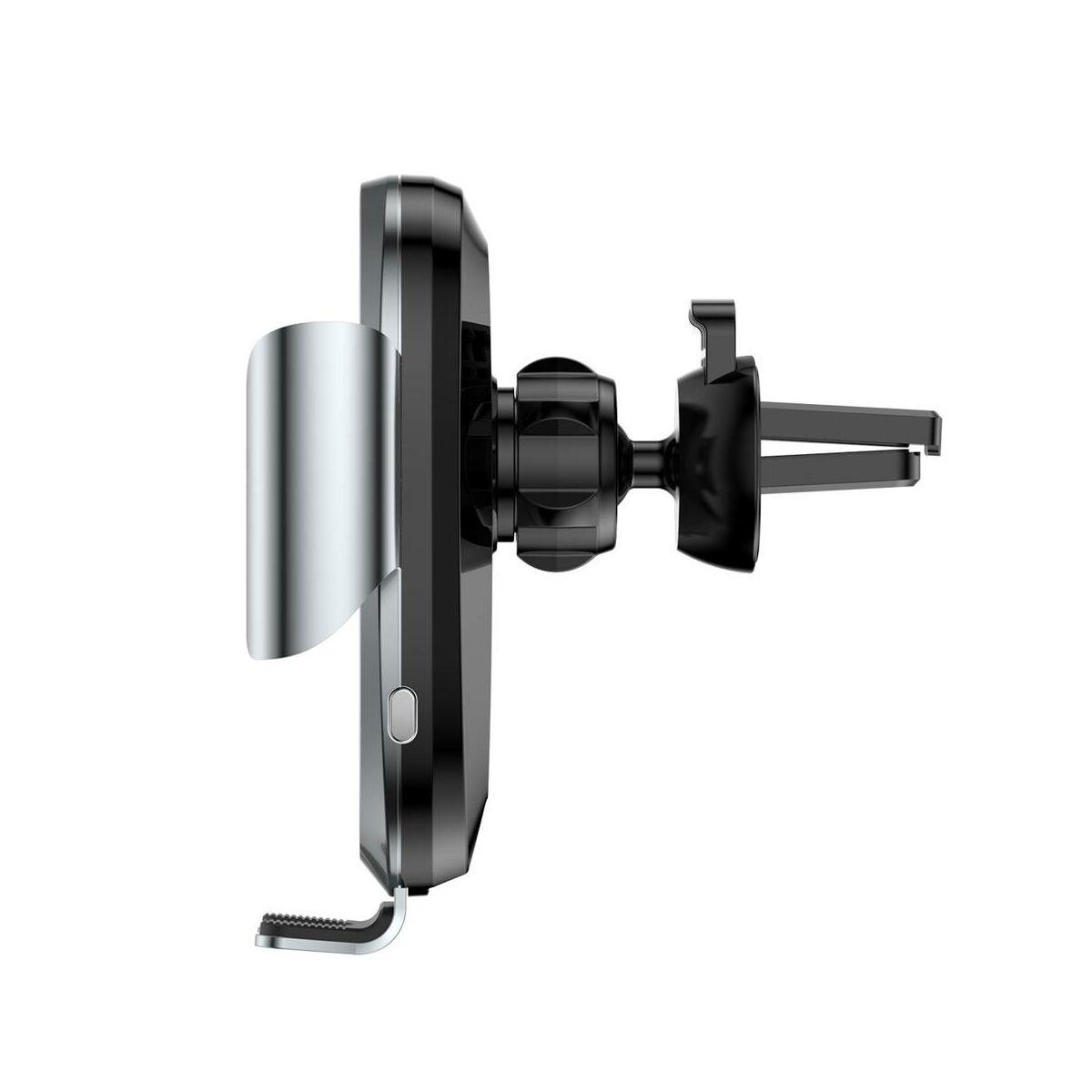 Baseus autós telefontartó, Gravity szellőzőrácsra, automatikus nyitás-zárás, ezüst (SUGENT-ZN0S)