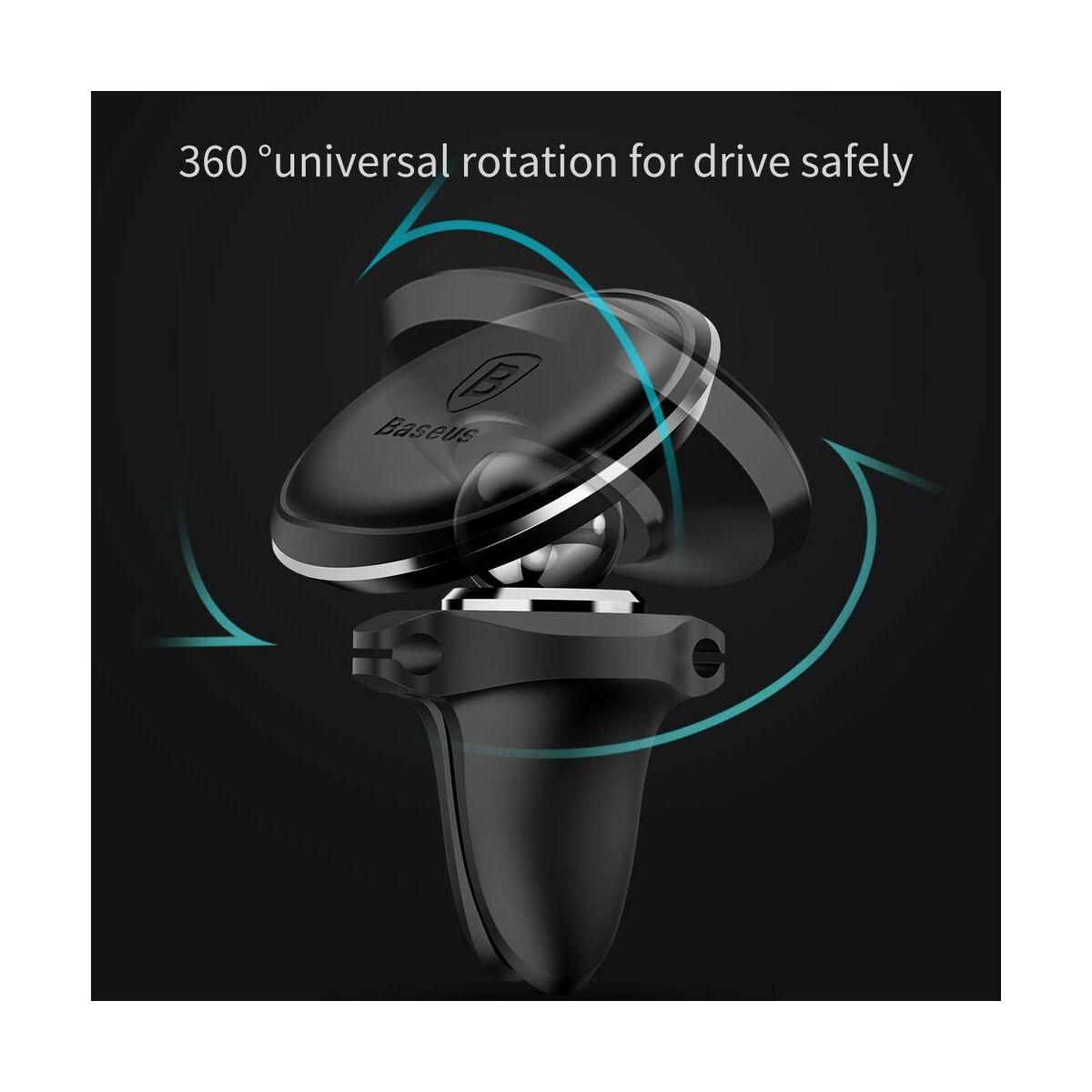 Baseus autós telefontartó, mágneses, szellőzőrácsra csipesszel, arany (SUGX-A0V)