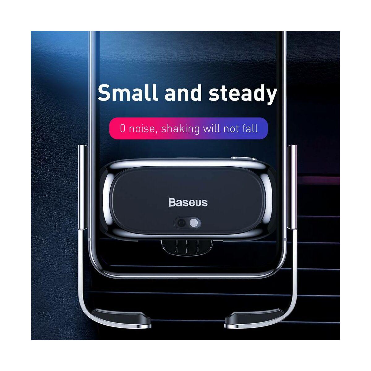 Baseus autós telefon tartó, Mini Electric, szellőzőrácsra, ezüst (SUHW01-0S)