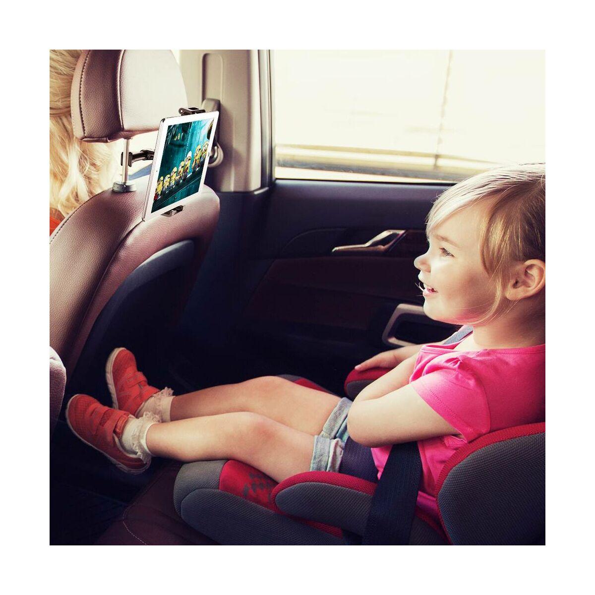 Baseus autós telefon/tablet tartó, első ülés fejtámlára, fekete (SUHZ-01)