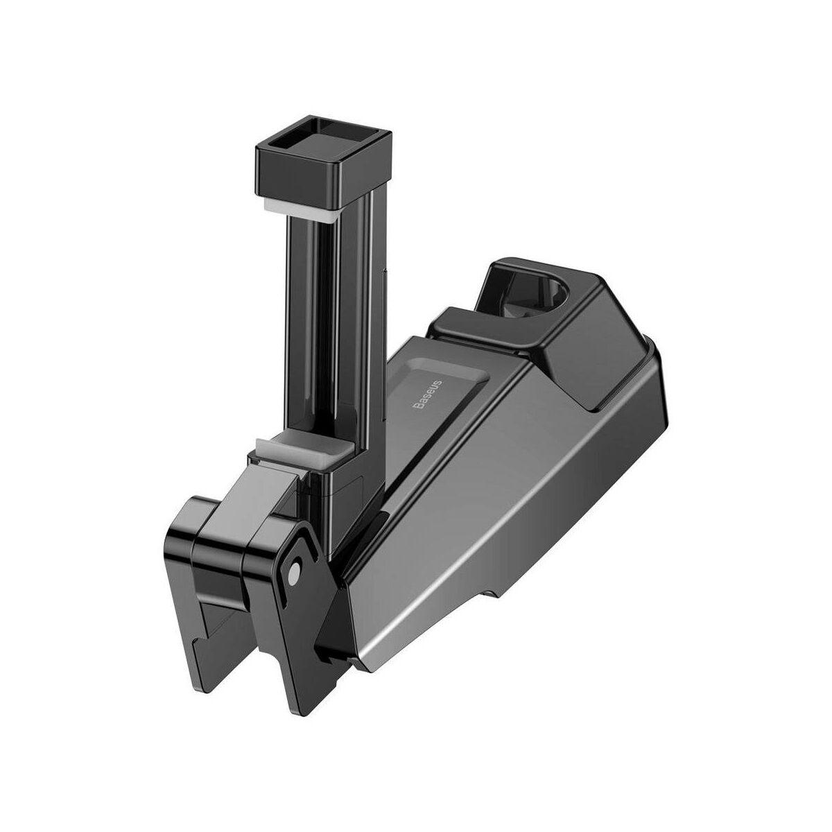 Baseus autós telefon tartó, Első ülés fejtámlához rögzíthető készülék tartó, ruha akasztóval 4.0-6.5 inch méretig, fekete (SUHZ-A01)