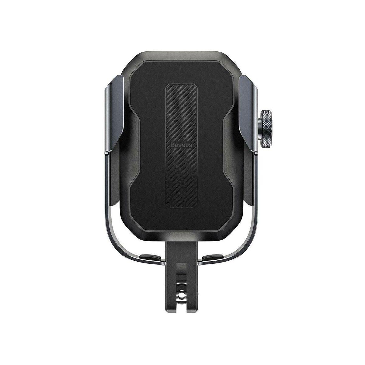 Baseus Motorbiciklire szerelhető Armor biztonságos telefontartó (biciklire is felszerelhető), fekete (SUKJA-01)
