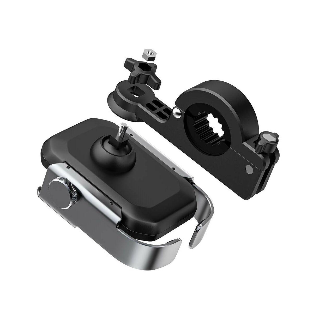 Baseus Motorbiciklire szerelhető Armor biztonságos telefontartó (biciklire is felszerelhető), ezüst (SUKJA-0S)