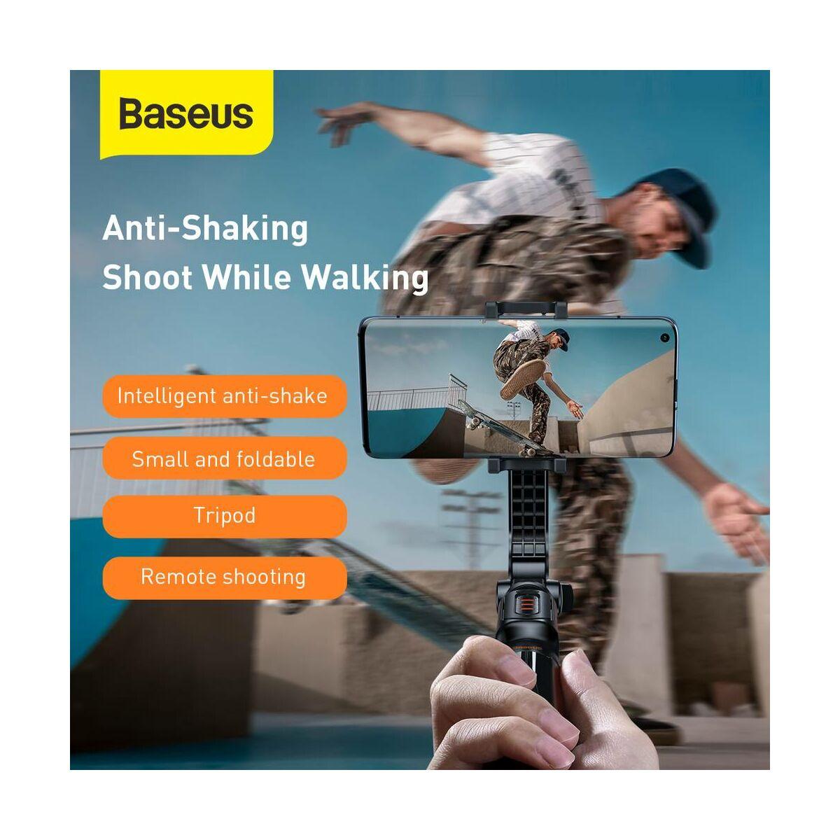 Baseus Video kiegészítő, Lovely Uniaxial Bluetooth selfie állvány, telefontartó és stabilizátor, összecsukható, fekete (SULH-01)