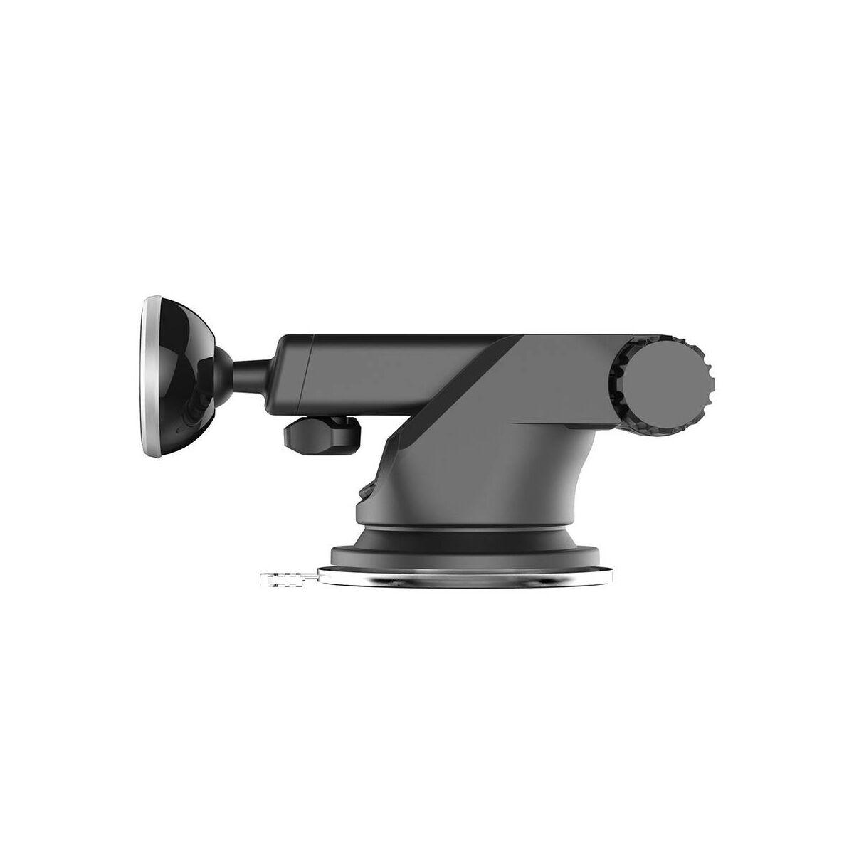 Baseus autós telefontartó, Solid series, kihúzható teleszkópos, mágneses, műszerfalra, ezüst (SULX-0S)