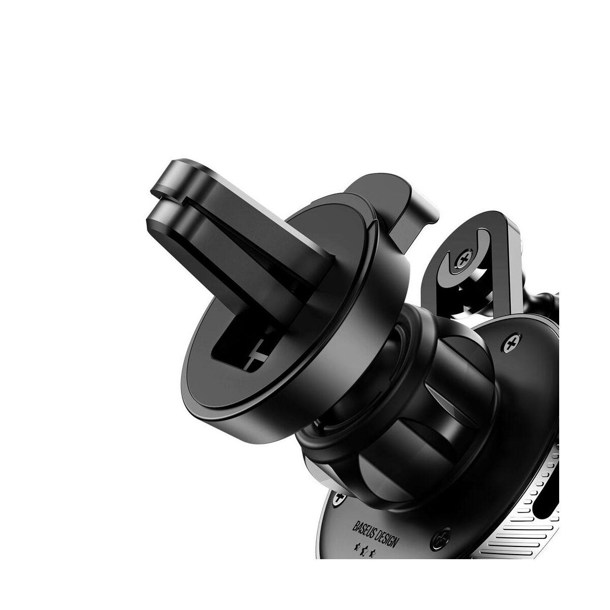 Baseus autós telefontartó, YY alakú töltő kábellel (Lightning), fekete (SULYY-01)
