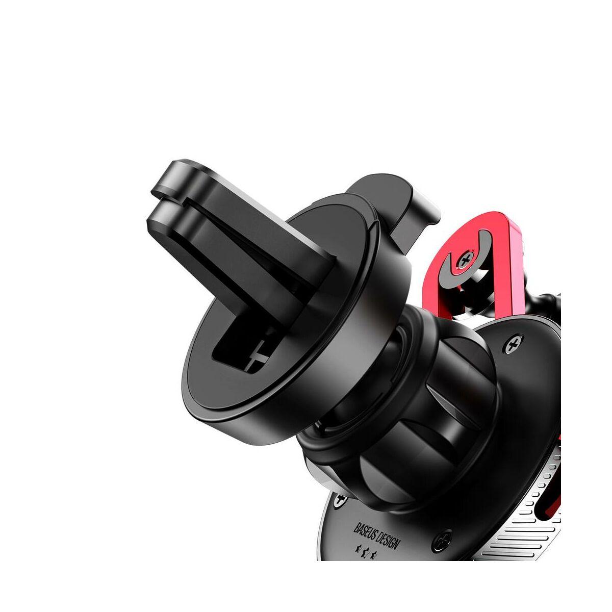 Baseus autós telefon tartó, YY alakú töltő kábellel (Lightning), piros (SULYY-09)