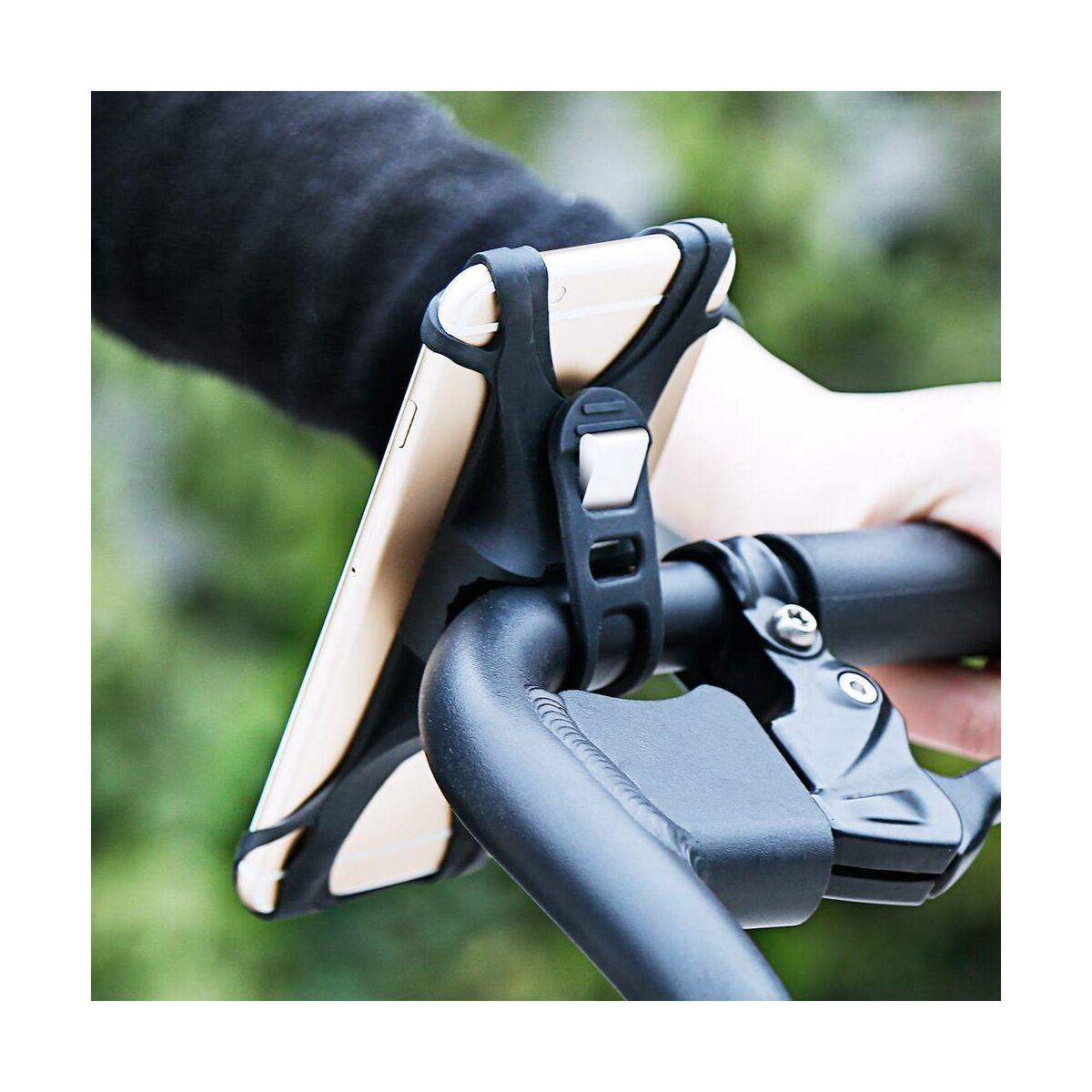 Baseus Miracle mobiltelefontartó, biciklire, fekete (SUMIR-BY01)