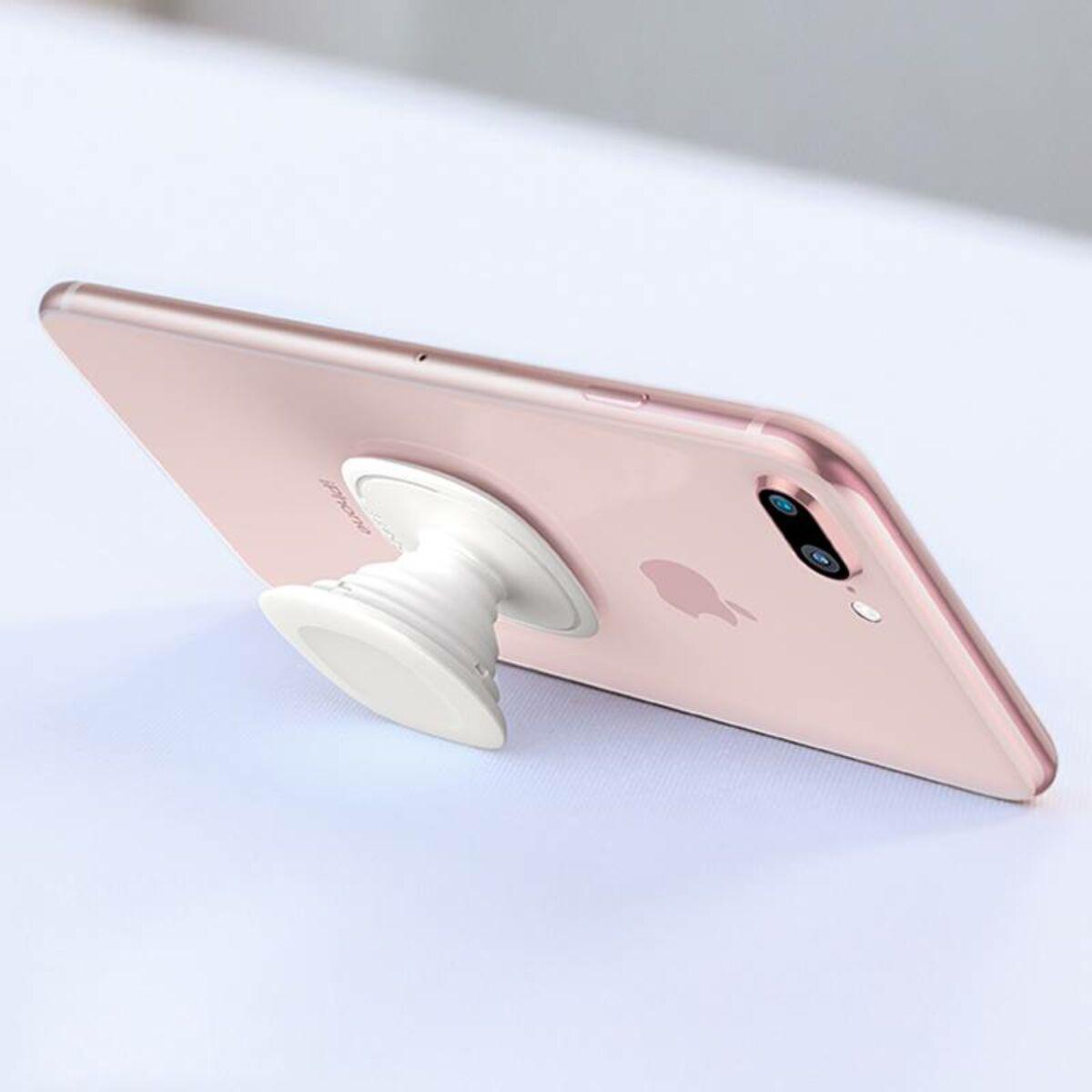Baseus egyedi telefontartó, minden felületre ragasztható, fehér (SUMQN-02)