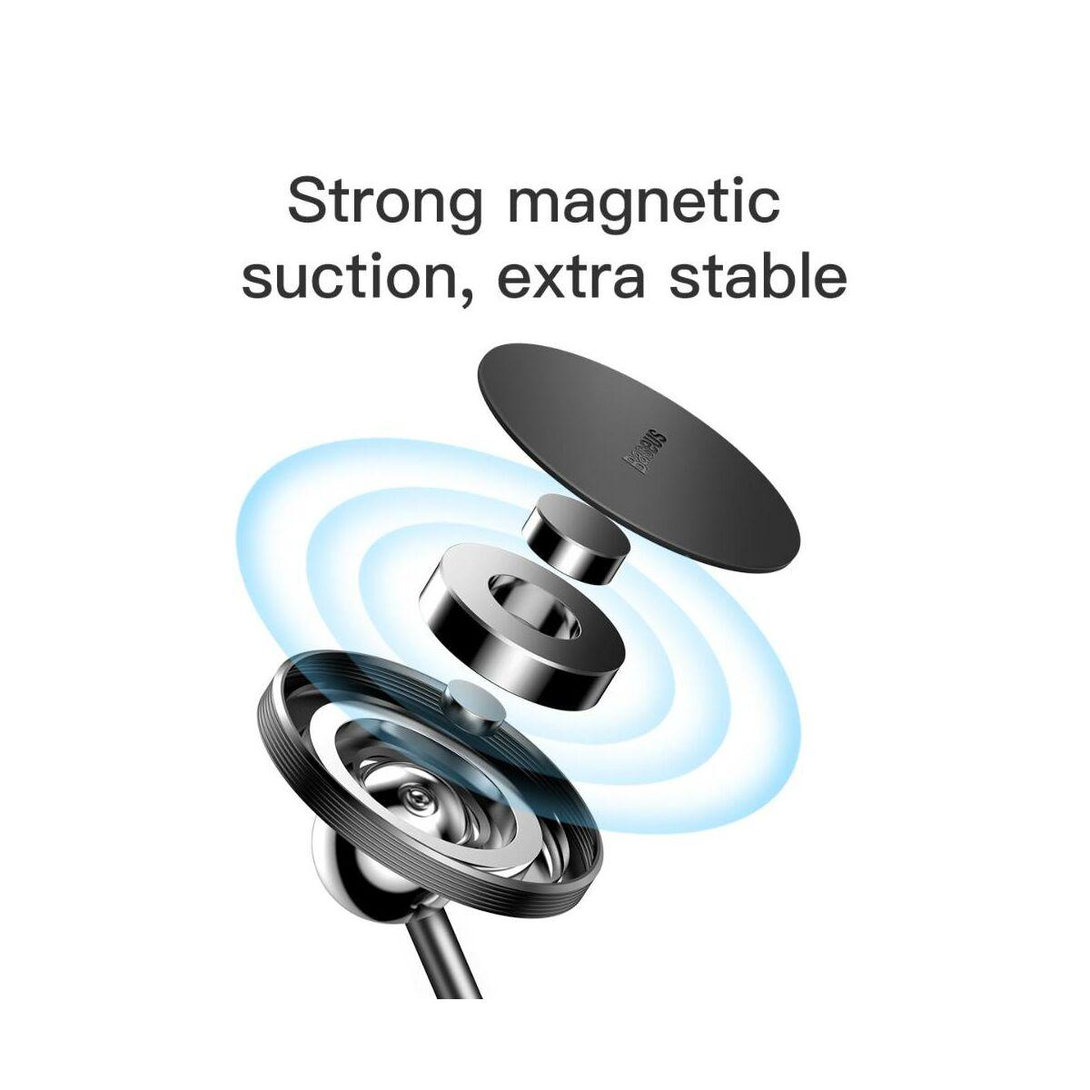 Baseus autós telefon tartó, Little Sun mágneses, műszerfalra ragasztható, fekete (SUTY-01)