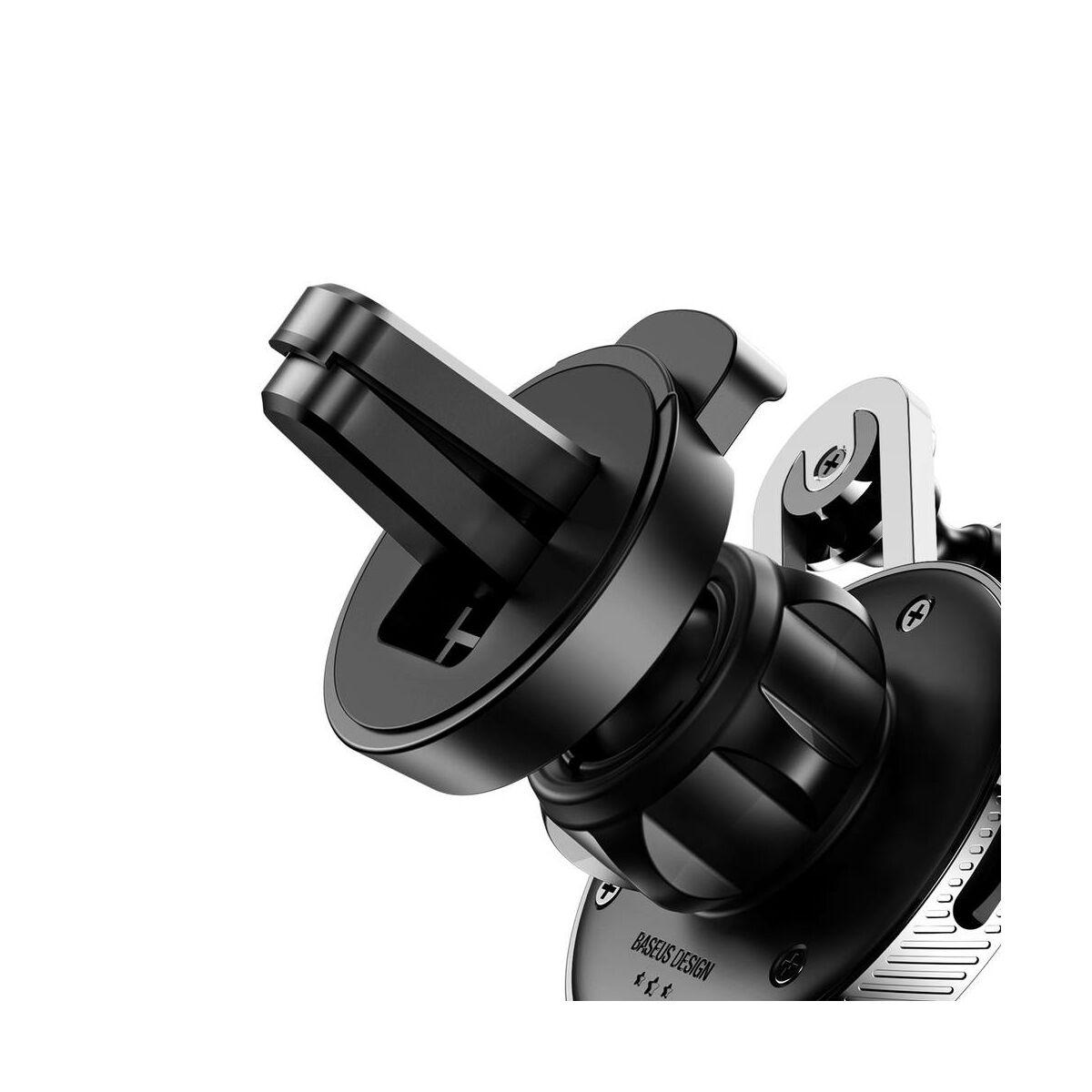 Baseus autós telefontartó, YY alakú töltő kábellel (Type-C), ezüst (SUTYY-0S)