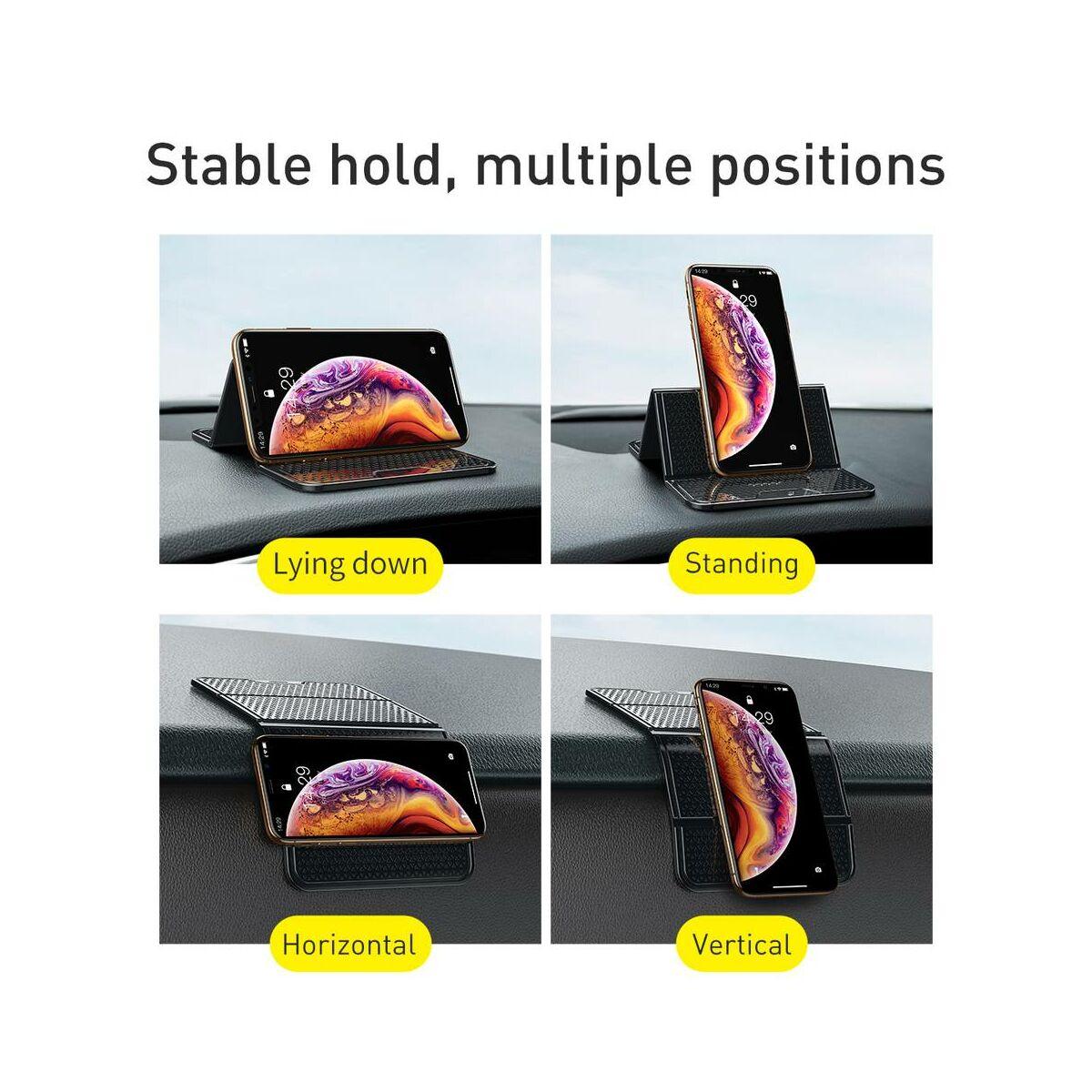 Baseus autós kiegészítő, összecsukható, csúszásgátlós, öntapadós nanopad tartó, átlátszó (SUWNT-02)