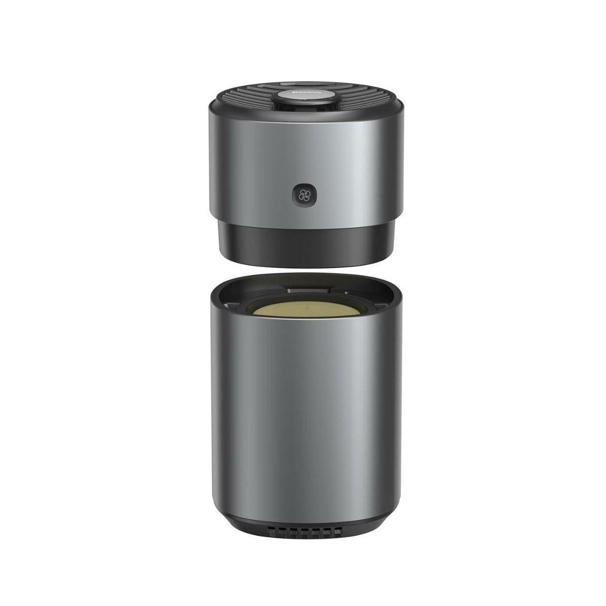 Baseus autós kiegészítő, Breeze Fan, ventilátoros légfrissítő, Formaldehid, akkumulátoros verzió 850 mAh, két illattal, fekete (SUXUN-AWF01)