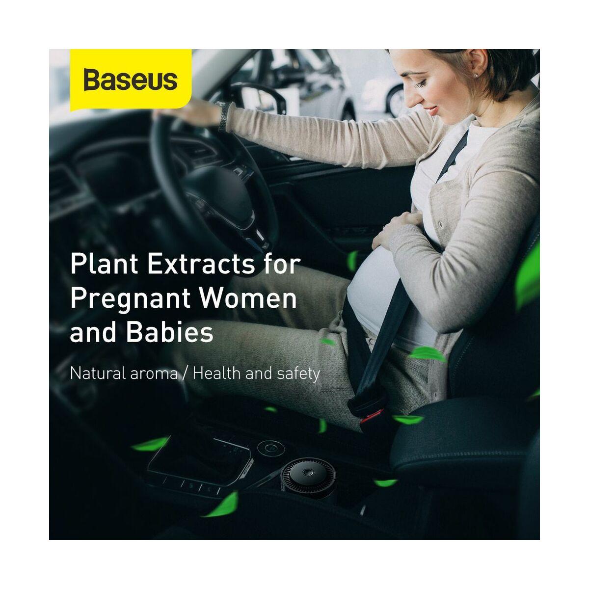 Baseus autós kiegészítő, Ripple pohártartóba való légfrisstiő, Cologne krém illattal, (Formaldehydes tisztító funkció), ezüst (SUXUN-BW0S)