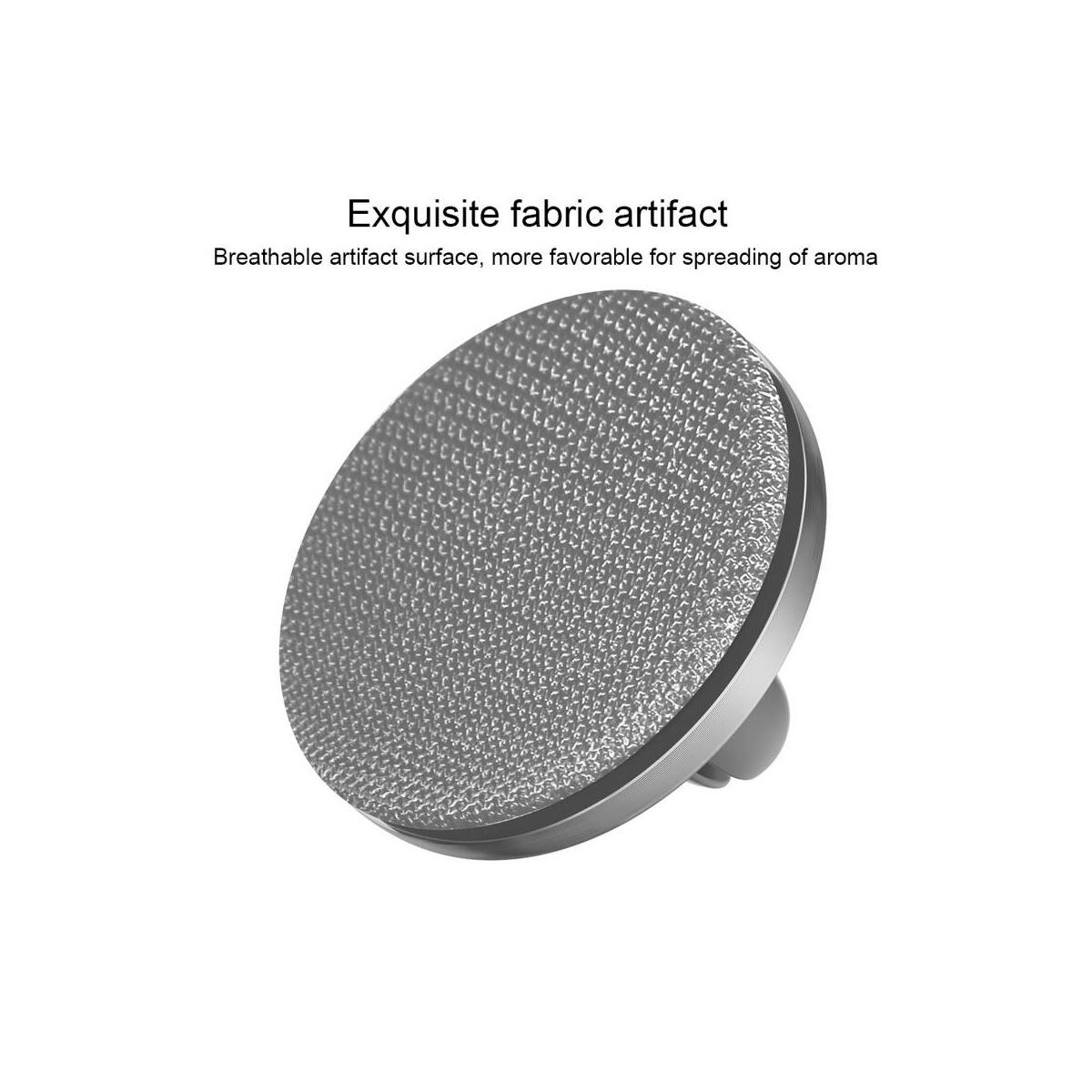 Baseus autós illatosító, Fabric Artifact, ezüst (SUXUN-BY0G)