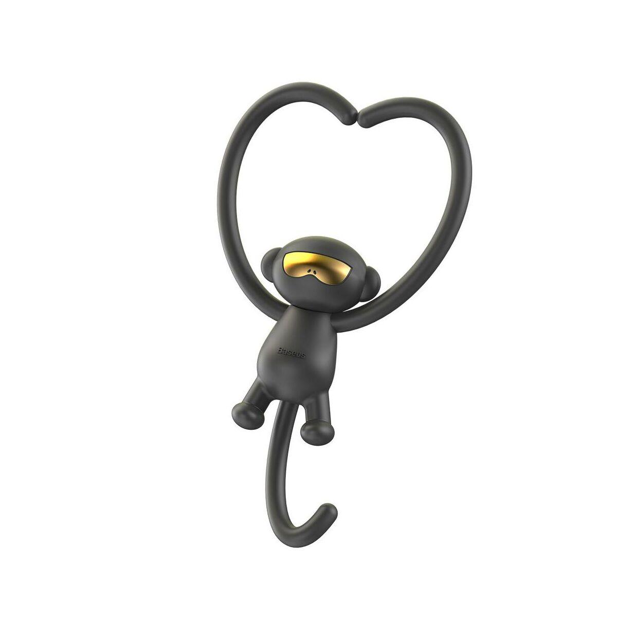 Baseus autós illatosító, Monkey-Shaped, fekete (SUXUN-MK01)