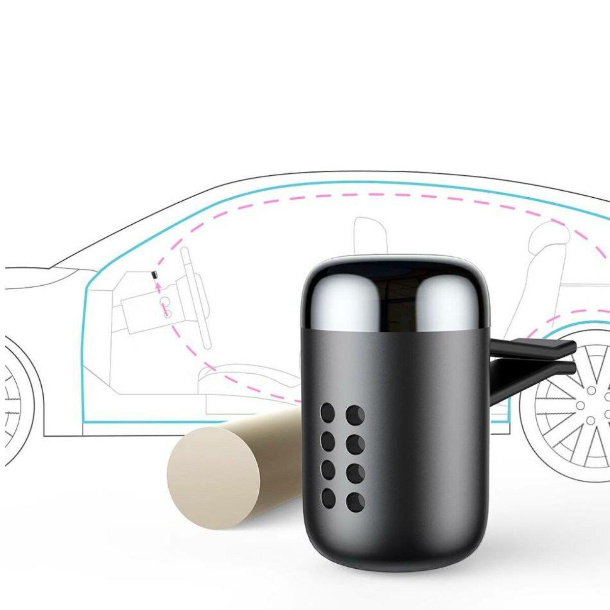 Baseus autós illatosító, Little Fatty, 5db-os parfümmel, ezüst (SUXUN-PDA0S)