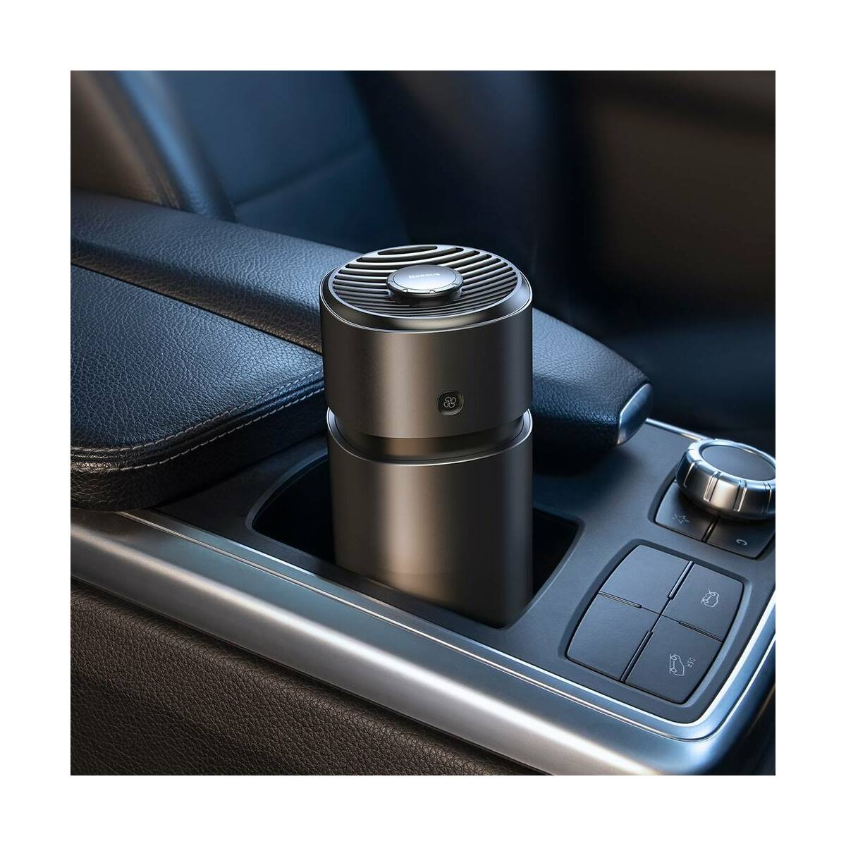 Baseus autós illatosító, ventilátoros légfrissítő (Formaldehides tisztító funkcióval), fekete (SUXUN-WF01)