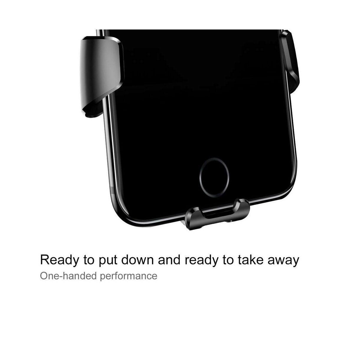 Baseus autós telefontartó, Gravity, szellőzőrácsra, fekete (SUYL-01)
