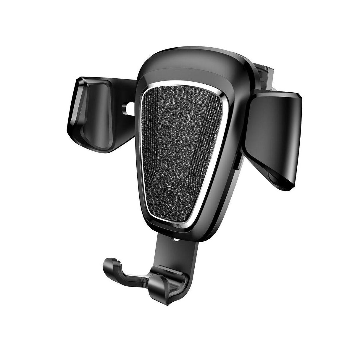 Baseus autós telefon tartó, Gravity (Fém), szellőzőrácsra, fekete (SUYL-B01)