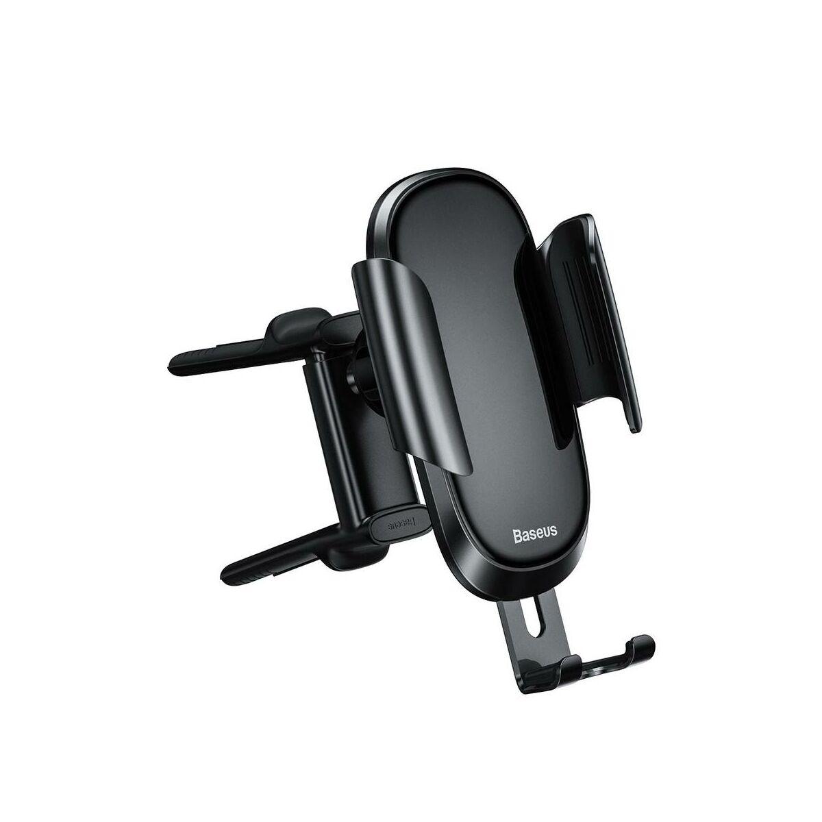 Baseus autós telefontartó, Future Gravity (kerek szellőzőrácsra szerelhető), fekete (SUYL-BWL01)