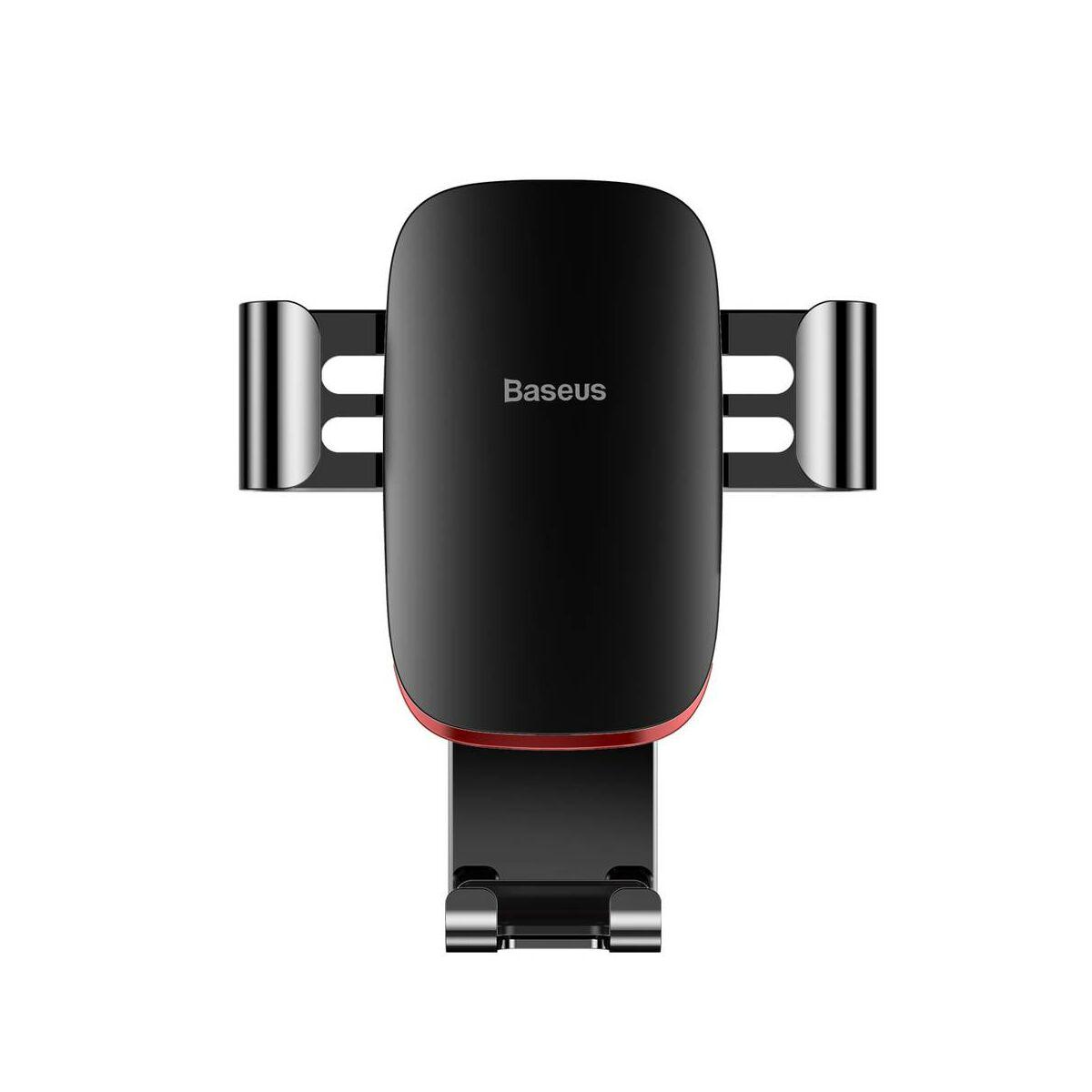 Baseus autós telefontartó, Metal Age Gravity szellőzőrácsra, fekete (SUYL-D01)