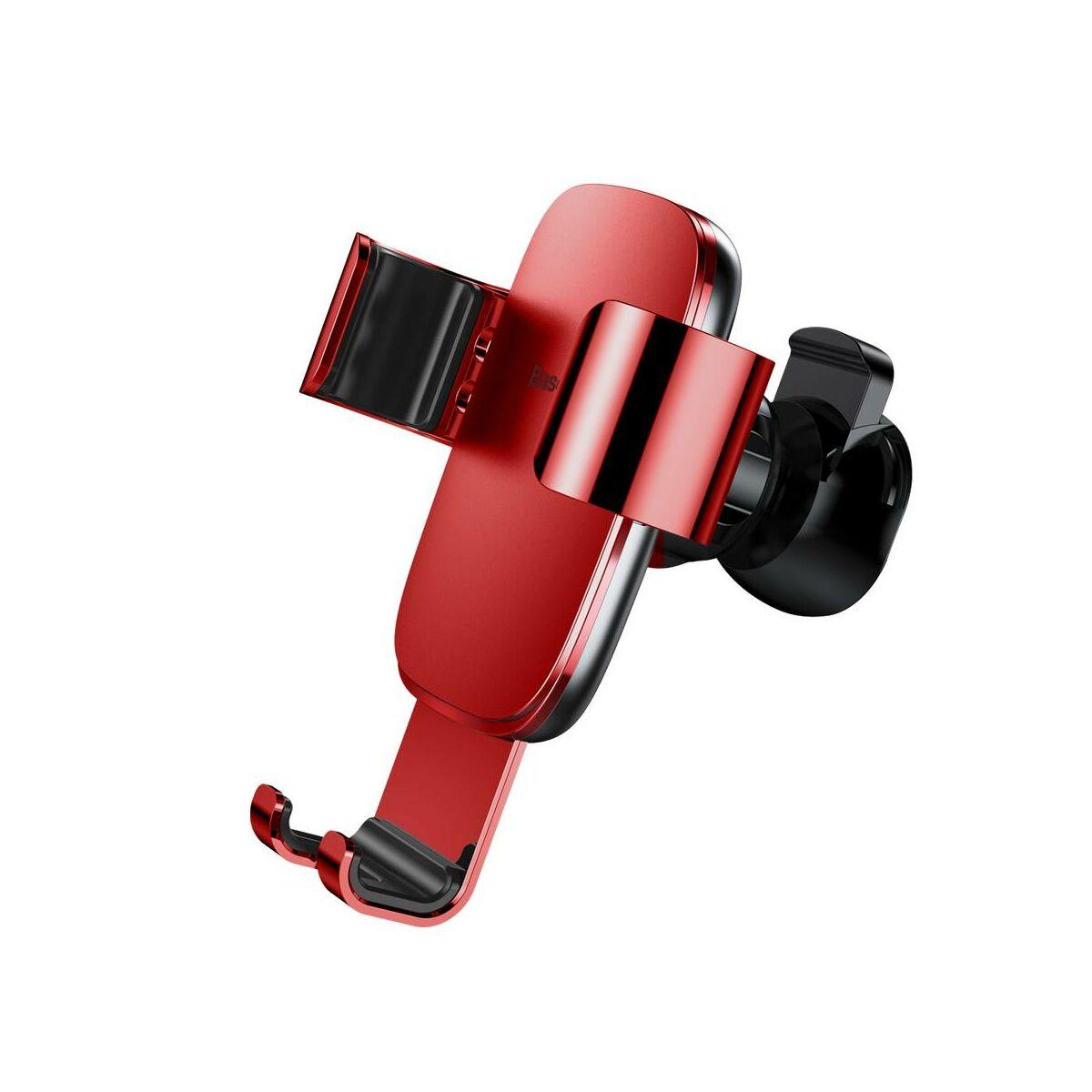 Baseus autós telefon tartó, Metal Age Gravity szellőzőrácsra, piros (SUYL-D09)