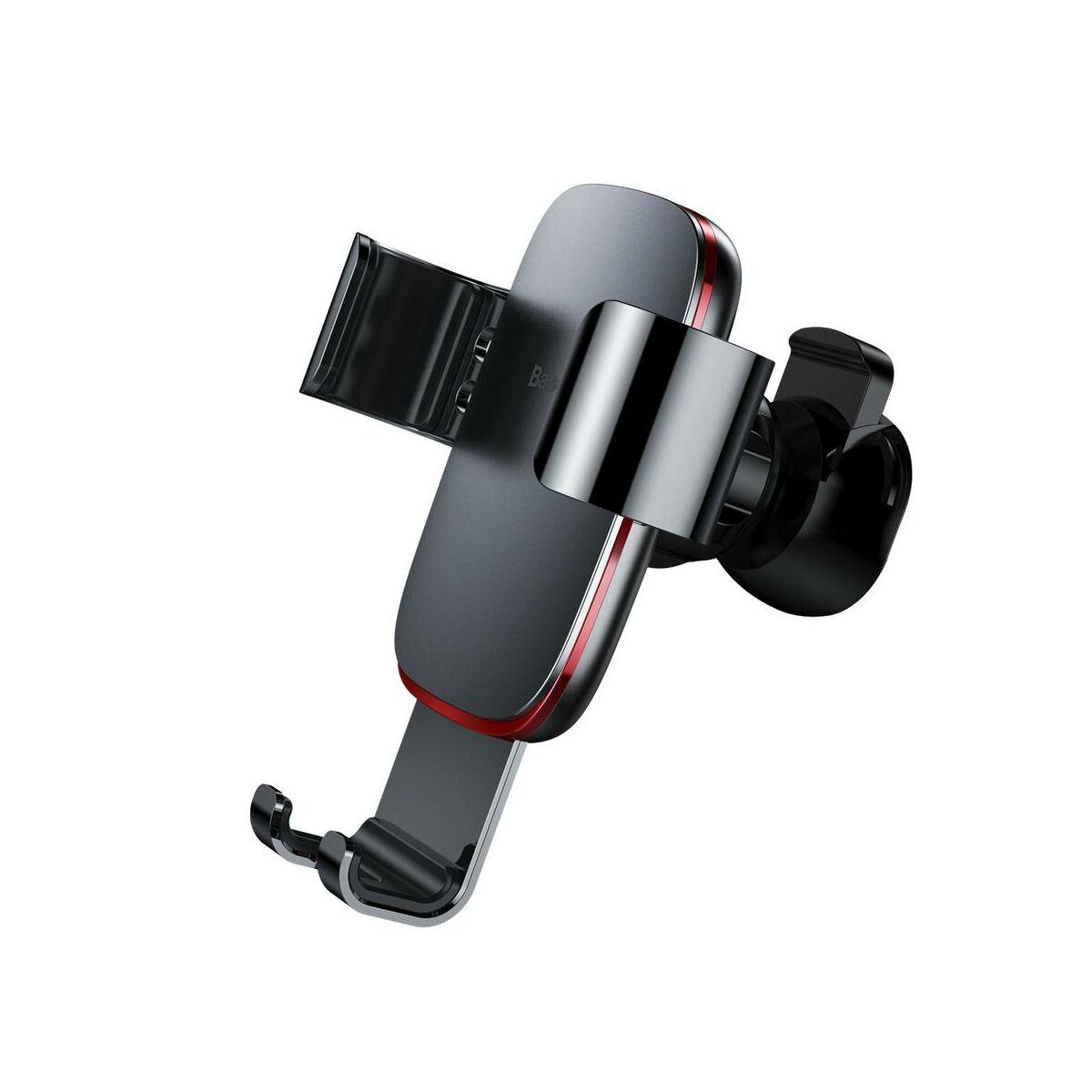 Baseus autós telefontartó, Metal Age Gravity szellőzőrácsra, sötétszürke (SUYL-D0G)