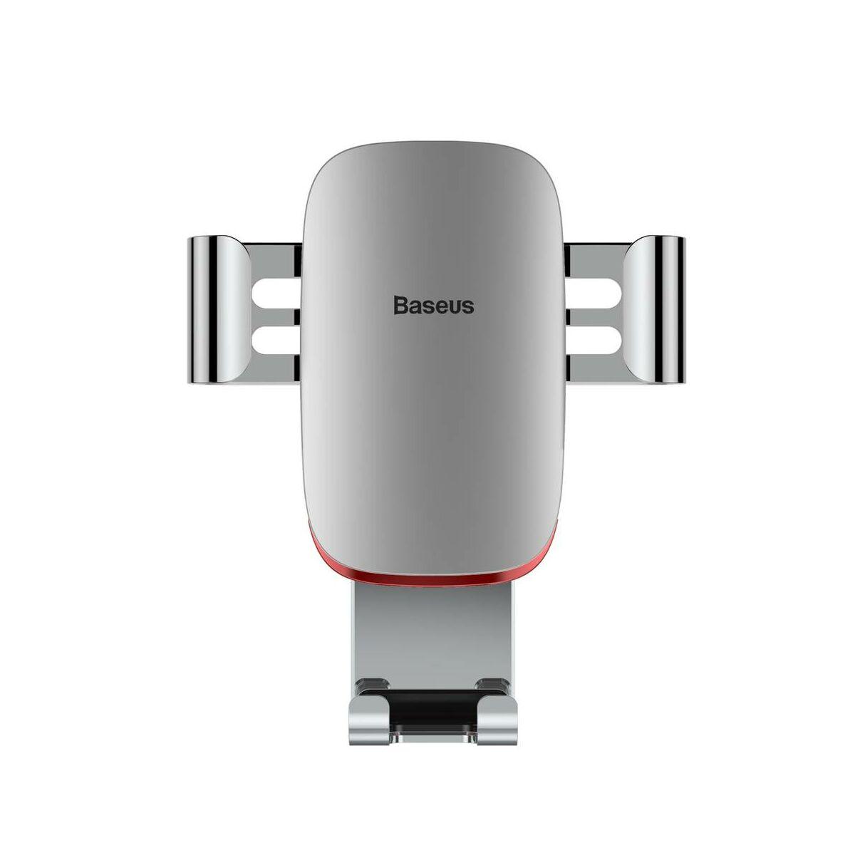 Baseus autós telefontartó, Metal Age Gravity szellőzőrácsra, ezüst (SUYL-D0S)