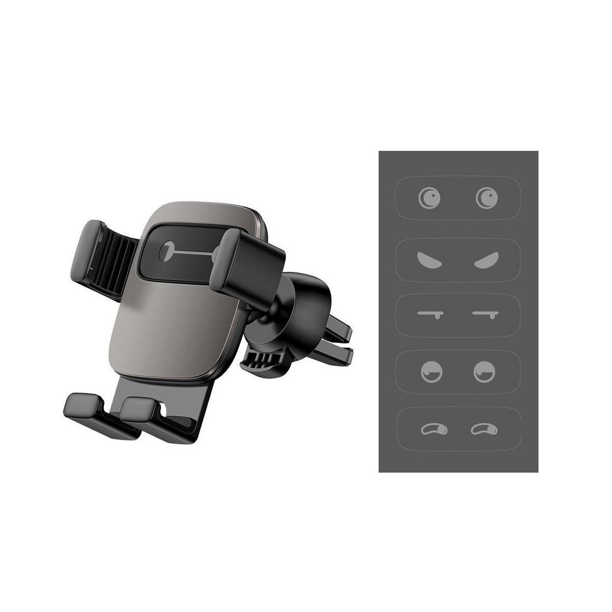 Baseus autós telefon tartó, Cube Gravity, szögletesebb design, fekete (SUYL-FK01)