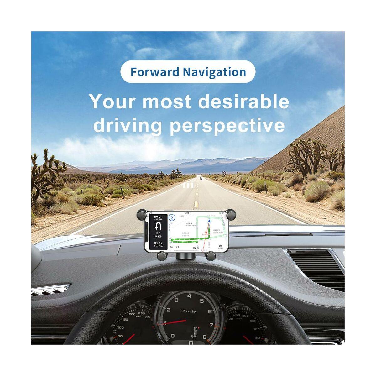 Baseus autós telefontartó, Gravity Horizontal Screen, szellőzőrácsra, vízszintesen tartja a készüléket, fehér (SUYL-HP02)