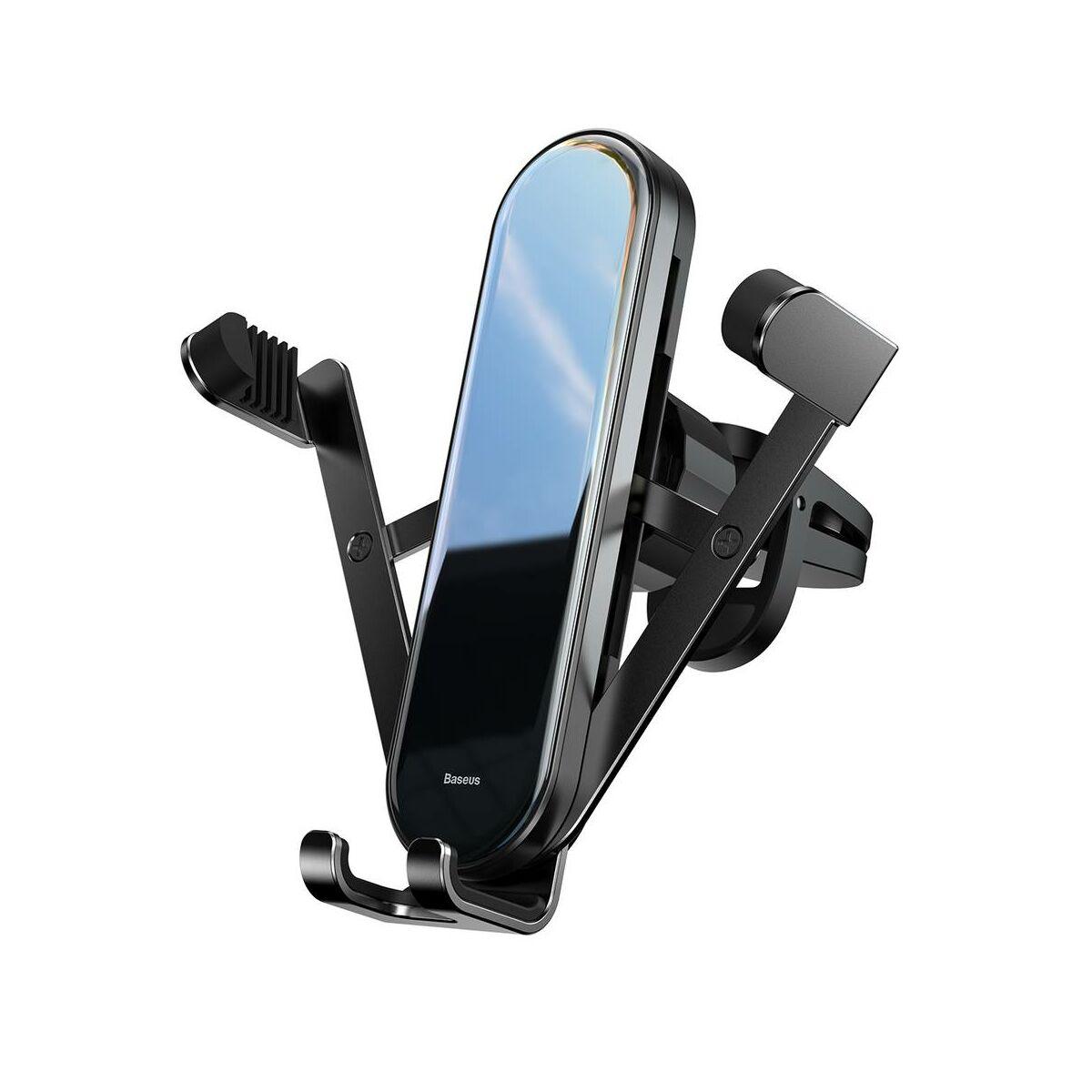 Baseus autós telefontartó, Penguin Gravity, szellőzőrácsra, fekete (SUYL-QE01)