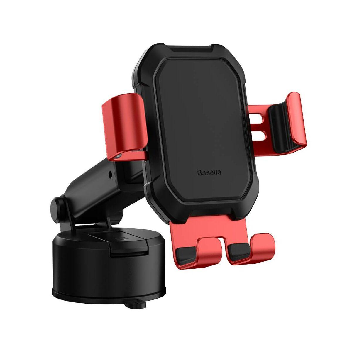Baseus autós telefon tartó, Tank Gravity, műszerfalra vagy szélvédőre helyezhető, piros (SUYL-TK09)