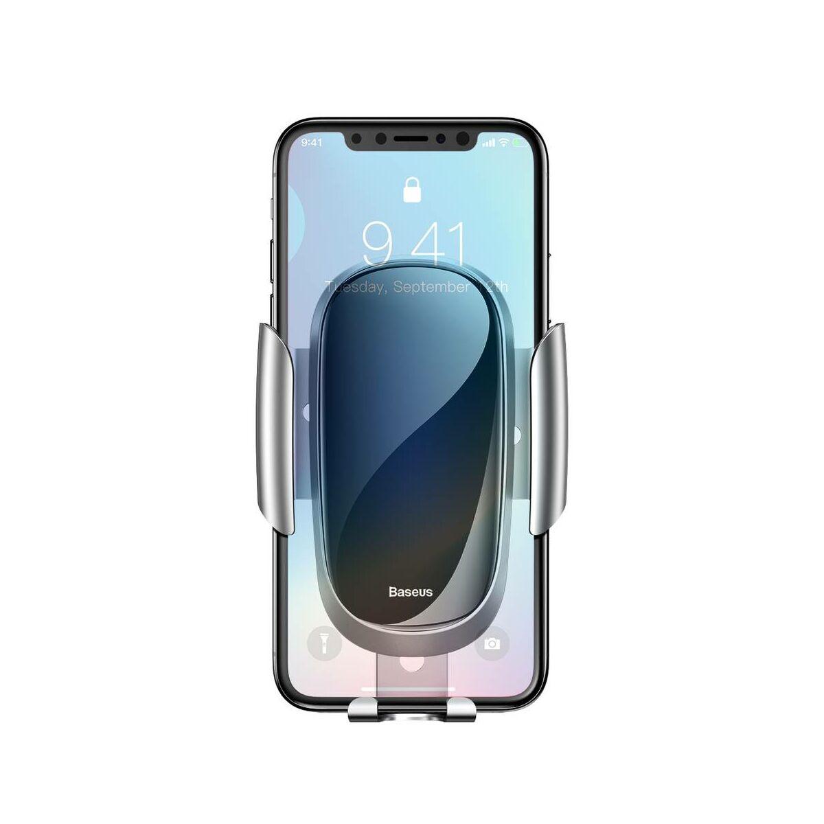 Baseus autós telefontartó, Future, szellőzőrácsra, ezüst (SUYL-WL0S)