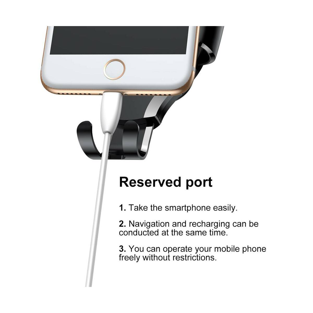 Baseus autós telefon tartó, Osculum Type Gravity, műszerfalra, fekete (SUYL-XP01)