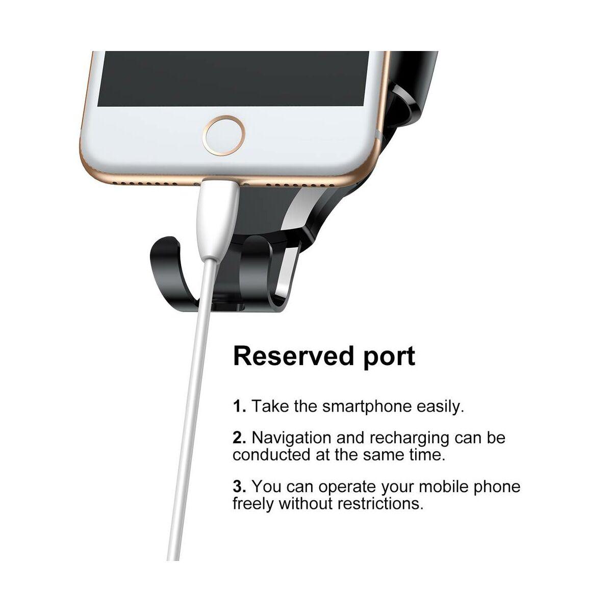 Baseus autós telefon tartó, Osculum Type Gravity, szellőzőrácsra, fekete/piros(SUYL-XP09)