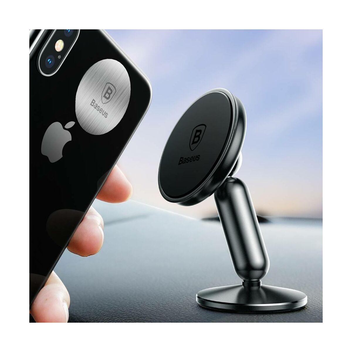 Baseus autós telefontartó, Bullet mágneses műszerfalra rögzíthető, fekete (SUYZD-01)
