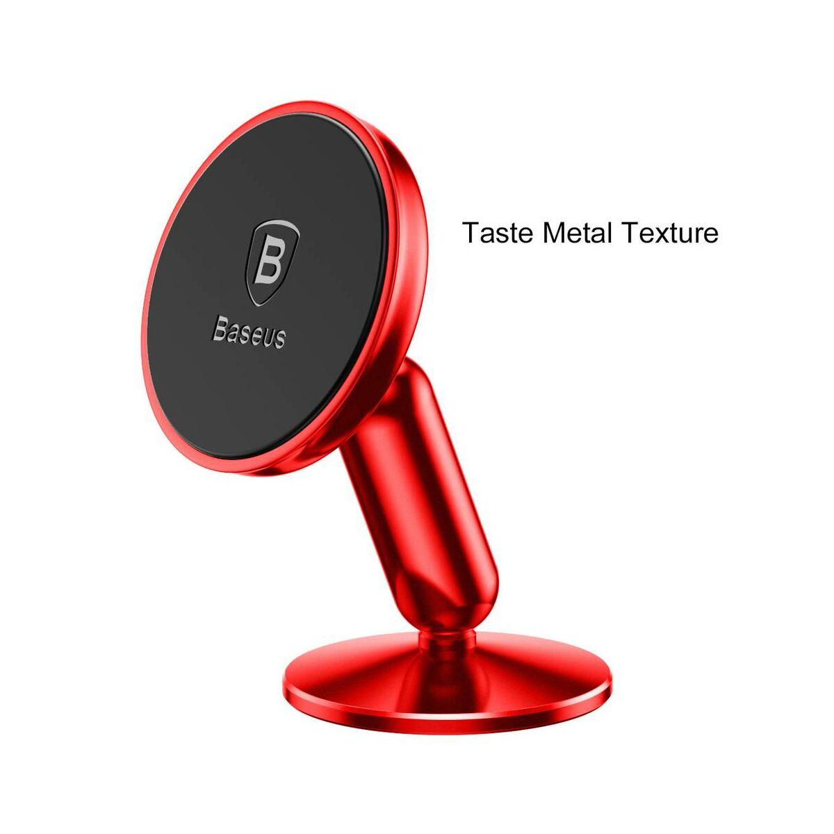 Baseus autós telefon tartó, Bullet mágneses műszerfalra rögzíthető, piros (SUYZD-09)
