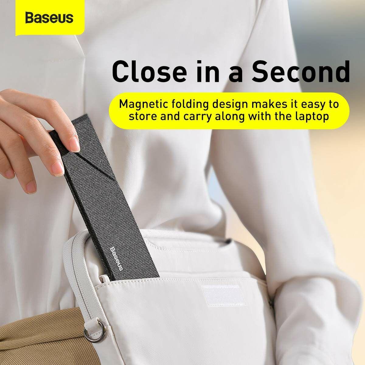 Baseus Macbook és laptop tartó, Ultra thin notebook asztali tartó, sötét szürke (SUZB-0G)