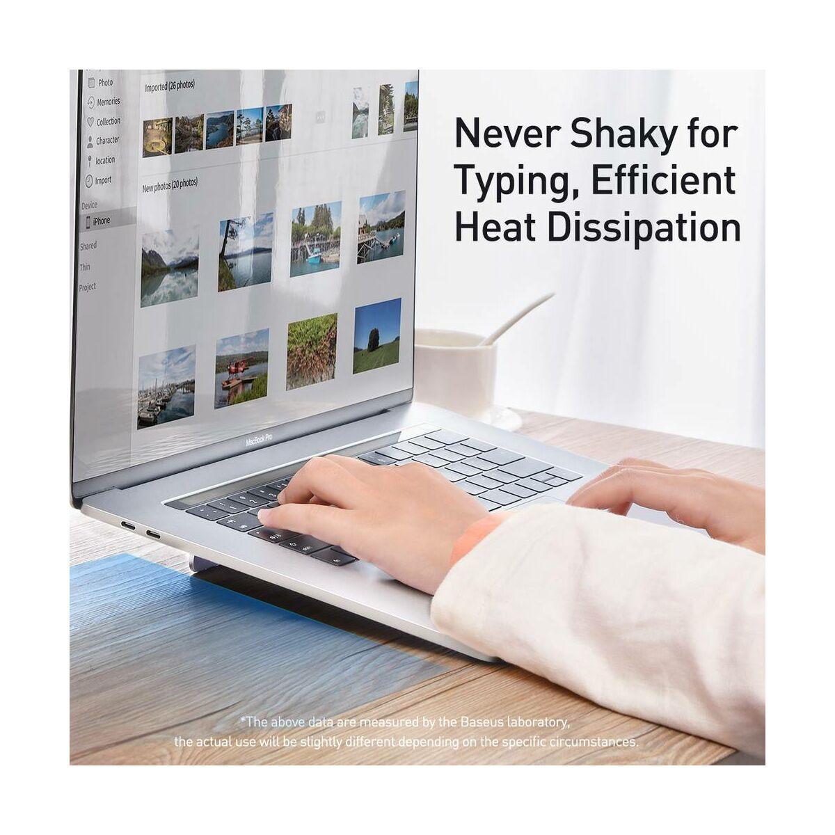 Baseus MacBook és Laptop tartó, Papery notebook asztali tartó, ezüst (SUZC-0S)