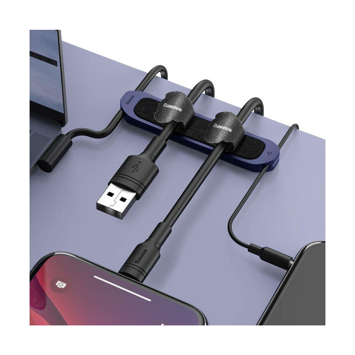 Baseus kiegészítő kábel kötegelő rendező Kaka Fixer szett (Velcro csíkok 5db / szín, fekete-piros-sárga a csomagban), kék (TZACGX-03)